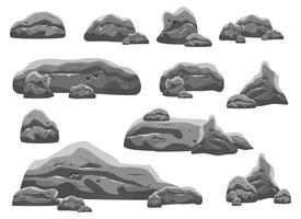 kei stenen vector ontwerp illustratie set geïsoleerd op een witte achtergrond. game-activa
