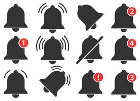 kennisgeving bel vector ontwerp illustratie set geïsoleerd op een witte achtergrond