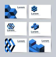 sjablonen van visitekaartjes met abstract ontwerpelementen sjabloonontwerp vector