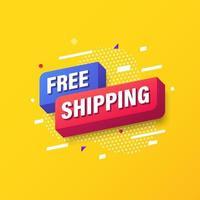 gratis verzending, online marketing sjabloonontwerp voor spandoek. vector illustratie
