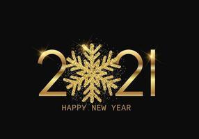 viering gelukkig nieuwjaar 2021 groet vector illustratie ontwerp bewerkbare resizable eps 10