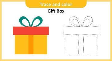 trace en kleur geschenkdoos vector