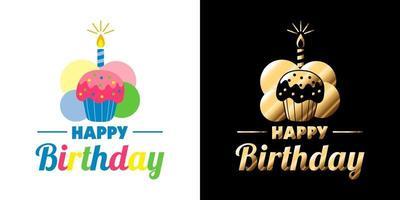 gelukkige verjaardag sticker vector