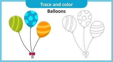 traceer en kleur ballonnen vector