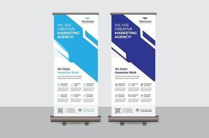 abstract kleurrijk oprollen banner vector ontwerpsjabloon
