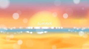 strand en zee zonlicht, zomervakantie vector illustratie