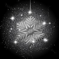 Kerstmissneeuwvlok glitter achtergrond