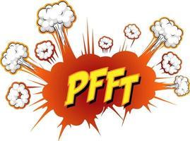 komische tekstballon met pfft-tekst
