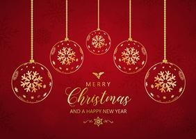 Decoratieve Kerstmis en Nieuwjaar achtergrond met hangende snuisterij