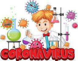 onderzoeker experiment voor covid-19-vaccin vector