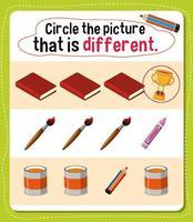 omcirkel de afbeelding die een andere activiteit is voor kinderen vector