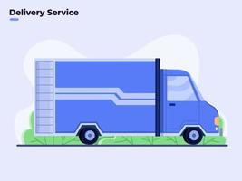 vrachtwagentransport voor bezorgservice vector