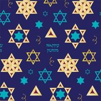 purim hamentashen vector patroon