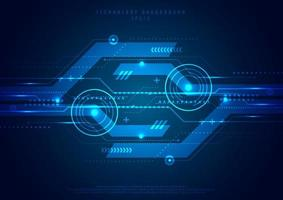 abstracte sjabloon technologie futuristische geometrische cirkel concept digitale innovatie blauwe achtergrond. hi-tech communicatie