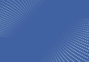 abstracte blauwe halftoonpunten patroon vervorming perspectief achtergrond en textuur.