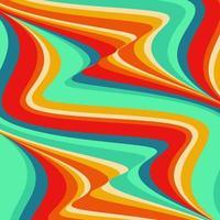 retro stijl psychedelische achtergrond vector