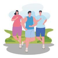 marathonlopers die buiten rennen