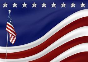 Amerikaanse vlag achtergrond voor presidenten 4 juli Onafhankelijkheidsdag vectorillustratie