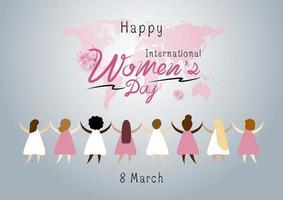 8 maart internationale Vrouwendag vectorillustratie