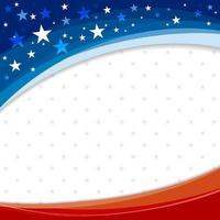 Amerika of de VS bannerontwerp als achtergrond van Amerikaanse vlag vectorillustratie