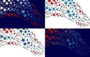 abstract vs achtergrondontwerp van ster onafhankelijkheidsdag banner vectorillustratie