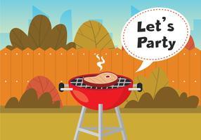 Laten we Barbecue tijd vector