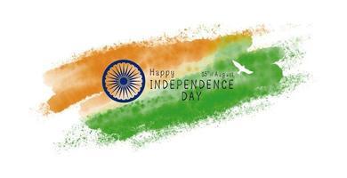 India onafhankelijkheidsdag ontwerp van aquarel penseel op witte achtergrond vectorillustratie