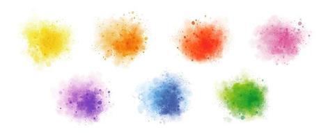 kleurrijke waterverf op witte vectorillustratie als achtergrond