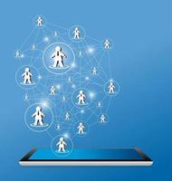 sociaal netwerk ontwerp vectorillustratie
