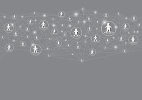 sociaal netwerk ontwerp achtergrond vectorillustratie