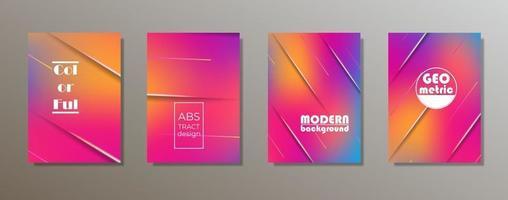 kleurrijk minimalistisch omslagontwerp. minimale geometrische patroongradiënten vector