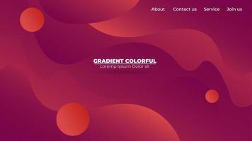 moderne abstracte gradiënt golvende geometrische achtergrond. geschikt voor behang, banner, achtergrond, kaart, boekillustratie, bestemmingspagina, cadeau, omslag, flyer, rapport, bedrijf, social media vector