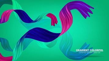 kleur penseelstreek olie of acrylverf achtergrond modern kleurrijk. geschikt voor behang, banner, achtergrond, kaart, boekillustratie, bestemmingspagina, cadeau, omslag, flyer, rapport, bedrijf, vector