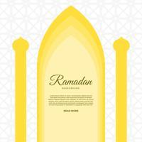 Platte ramadan vector achtergrond