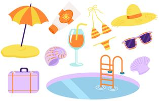 Strand vakantie vectoren
