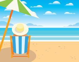 Strand vakantie illustratie