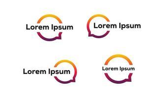 set van pictogrammen voor gesprek-chat-zeepbel vector