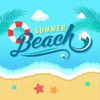 Zomer strand vakantie typografie achtergrond vector