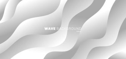 abstracte achtergrond moderne witte en grijze kleurverloop. golfvorm patroon ontwerp. vector