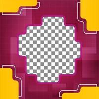 sociale media sjabloonontwerp. bewerkbare foto omslagontwerp vector