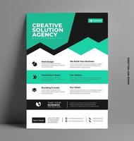 corporate flyer lay-out sjabloon in a4-formaat. vector