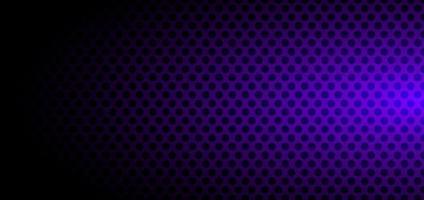 banner sjabloon abstracte zwarte cirkels patroon halftone stijl op paarse achtergrond met kleurovergang vector