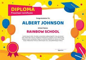 Kleuterschool Diploma certificaatsjabloon vector
