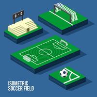 Isometrische voetbalveld Vector