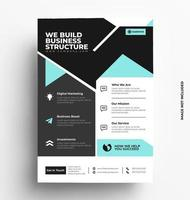 corporate flyer-sjabloon. vector