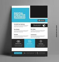 corporate flyer ontwerp lay-out sjabloon in a4-formaat. vector