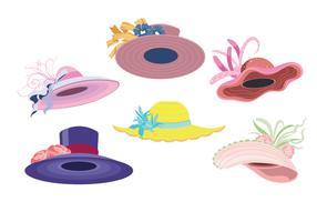 Geweldige set van vrouw Derby hoeden