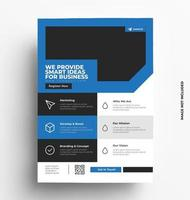 platte moderne minimalistische zakelijke folder sjabloon