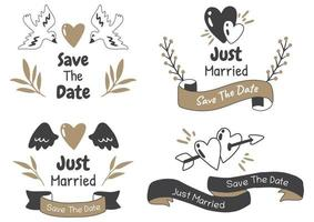 Valentijnsdag label vector logo voor banner