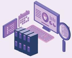 human resources werknemer database vector